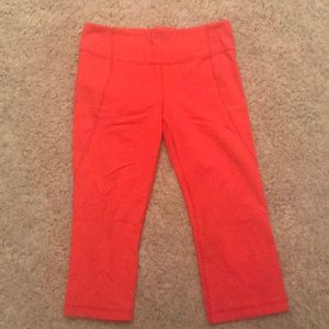 Lululemon size 10 orange crop